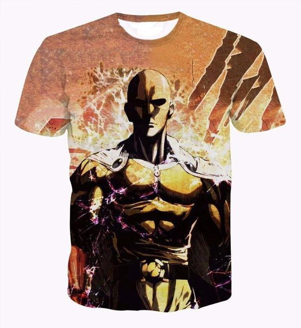 One Punch Man 3D Short Sleeve T-Shirt