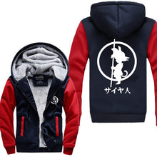 Load image into Gallery viewer, Dragon Ball Z Kid Goku Logo Thick Winter Hoodie 4 Colors