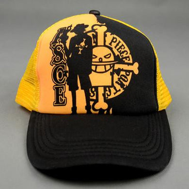 One Piece Black/Yellow Snapback Baseball Anime Hat