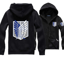 Load image into Gallery viewer, Attack On Titan Hoodie 7 Color Variations