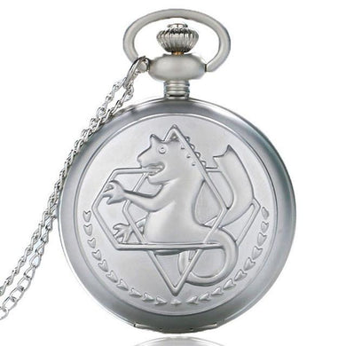 Fullmetal Alchemist Silver Anime Pocket Watch