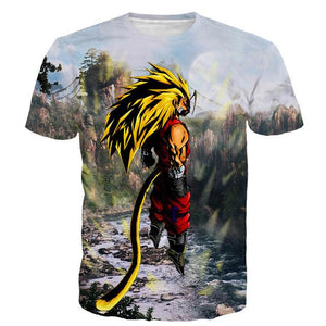Dragon Ball Z SSJ4 Goku 3D Short Sleeve Anime T-Shirt