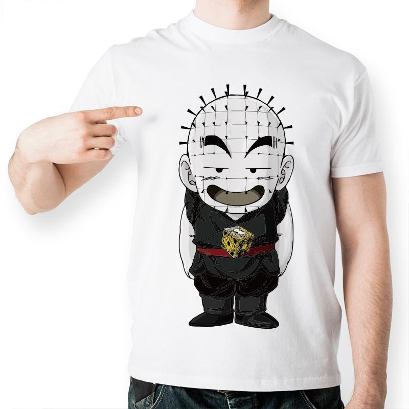 Dragon Ball Z Krillin Hell Raiser Funny Short Sleeve Anime T-Shirt