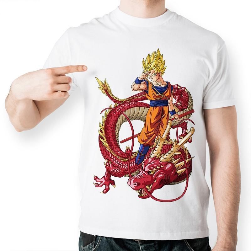 Dragon Ball Z Goku Red Dragon Short Sleeve Anime T-Shirt