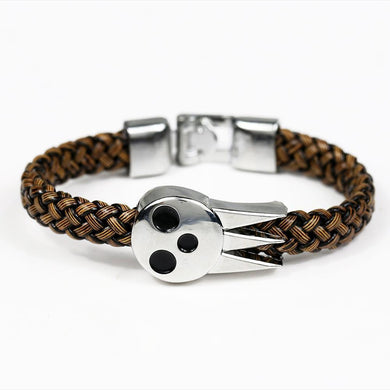 Soul Eater Alloy Bracelet Weave Leather Bracelet