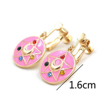 Load image into Gallery viewer, Sailor Moon Kawaii Pink Womens Anime Earrings