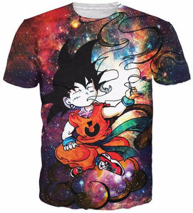 Dragonball Z Smoking Kid Goku Hipster 3D Summer Shirt