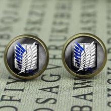 Load image into Gallery viewer, Attack On Titan Bronze Plated Womens Anime Earrings
