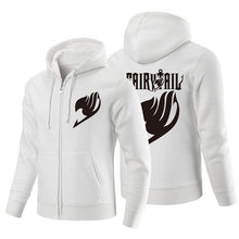 Load image into Gallery viewer, Fairy Tail Anime Logo Zipper Hoodie 3 Color Variations