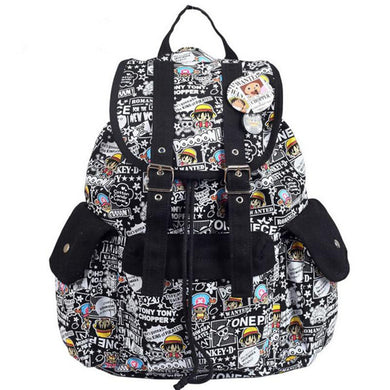 One Piece Comic Style Backpack School Bag