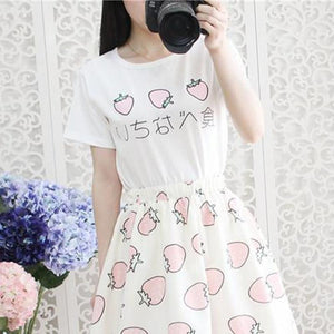 Japanese Delicious Eggs & Strawberry Kawaii T-Shirts