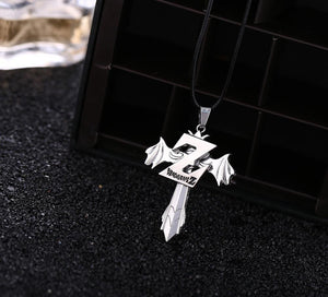 Dragon Ball Z Cross Metal Alloy Necklace