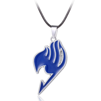 Fairy Tail Anime Blue Logo Metal Necklace Pendant