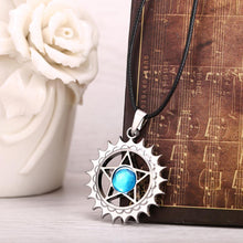 Load image into Gallery viewer, Black Butler Demon Contract Blue Crystal Necklace