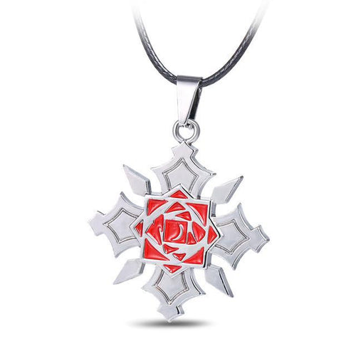 Vampire Knight Red Rose Pendant Necklace