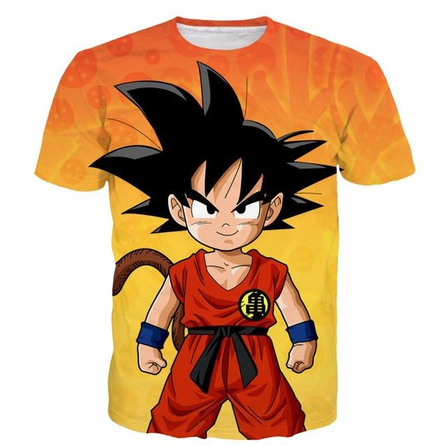 Dragon Ball Z Son Goku 3D Short Sleeve Anime T-Shirt