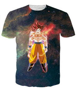 Dragon Ball Z Goku Galaxy 3D Short Sleeve t-Shirt