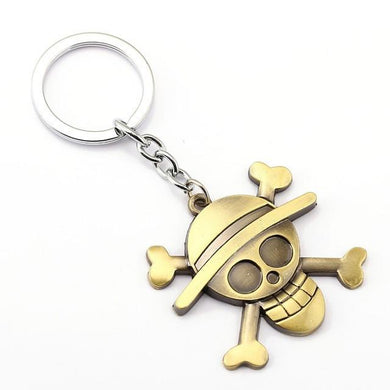 One Piece Luffy Gold Anime Key Chain