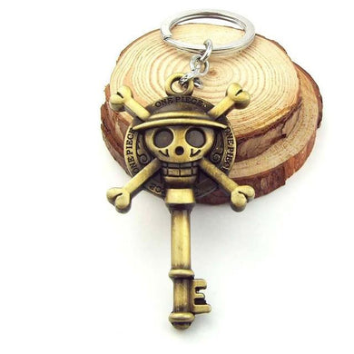 One Piece Luffy Skull Key Metal Key Chain