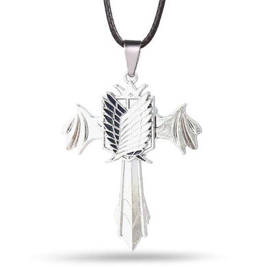 Attack On Titan Cross Metal Alloy Necklace