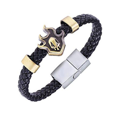 Bleach Alloy Bracelet Weave Leather Bracelet