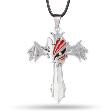 Bleach Mask Cross Metal Alloy Necklace