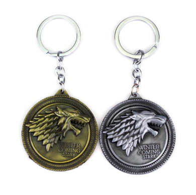 Game Of Thrones Fanboy Fangirl Nerdy Key Chain