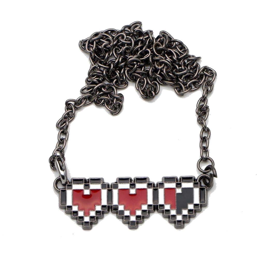 Legend Of Zelda Heart Life Necklace