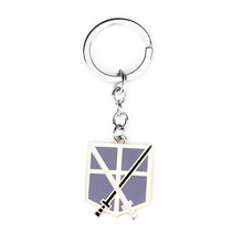 Load image into Gallery viewer, Attack On Titan Silver Anime Key Chain