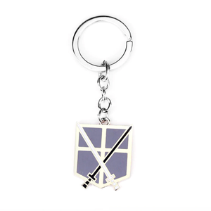 Attack On Titan Silver Anime Key Chain