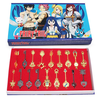 Fairy Tail 18 Pieces Lucy Ecliptic Palace Constellation Keychain Set
