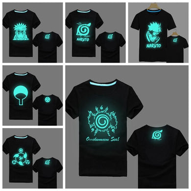 Naruto Uzumaki Fluorescent Glow In The Dark T-Shirts