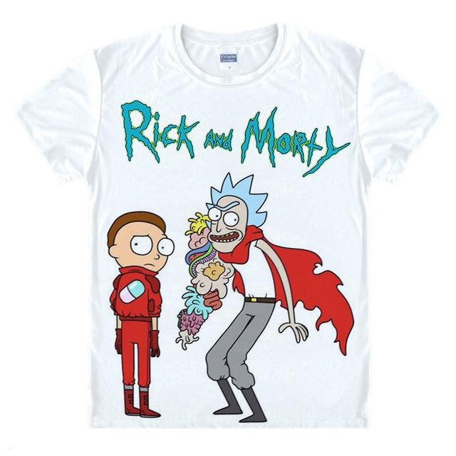 Rick And Morty Colorful Trippy Design T-Shirt