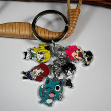 Load image into Gallery viewer, Fairy Tail Natsu Happy Lucy Gray Elza Keychain