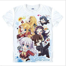 Load image into Gallery viewer, Charlotte Kawaii Japanese Anime T-Shirts (12 Styles)
