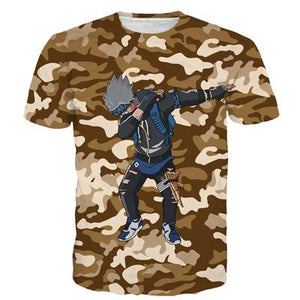 Dab On The Haters Vegeta Goku Kakashi Luffy Camo 3D Shirt