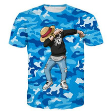 Load image into Gallery viewer, Dab On The Haters Vegeta Goku Kakashi Luffy Camo 3D Shirt