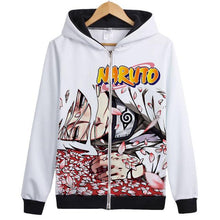 Load image into Gallery viewer, Naruto Kakashi Uchiha Sasuke Hoodie Jacket Sweatshirt
