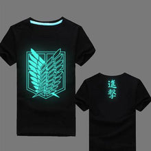 Load image into Gallery viewer, Attack On Titan Glow In The Dark T-Shirt