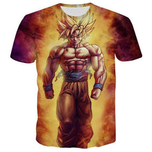 Load image into Gallery viewer, Dragon Ball Z 3D Goku Hipster T-Shirt