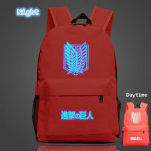 Load image into Gallery viewer, Attack On Titan Glow In The Dark Backpack