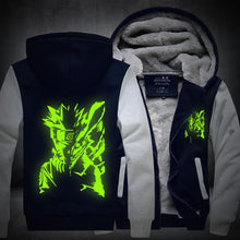 Load image into Gallery viewer, Naruto Hoodie Glow In The Dark Thick Jacket