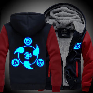 Naruto Hoodie Glow In The Dark Thick Jacket