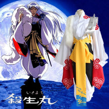 Load image into Gallery viewer, Anime Inuyasha Cosplay Sesshoumaru Costume Kimono Style Uniform