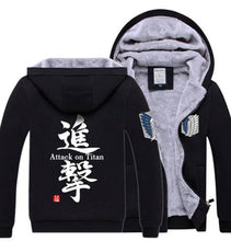 Load image into Gallery viewer, Attack On Titan Super Soft Hoodie Shingeki No Kyojin Jacket