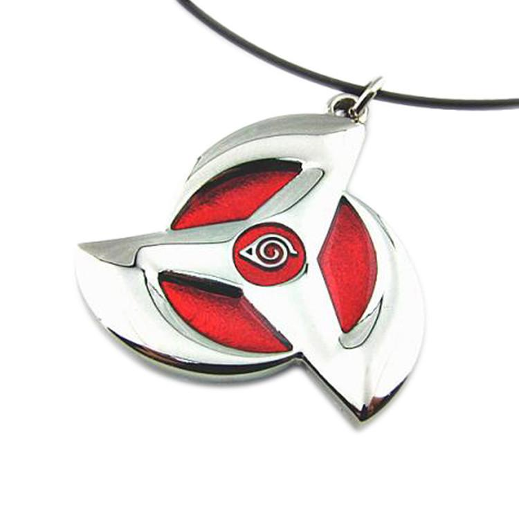 Naruto Metal Alloy Syaringan Pendant Necklace