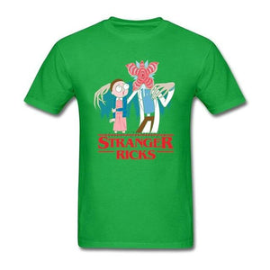 Rick And Morty Stranger Things Funny Parody T-Shirt
