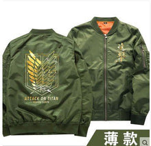 Load image into Gallery viewer, Attack On Titan Mens Cosplay Bomber Jacket Windbreaker