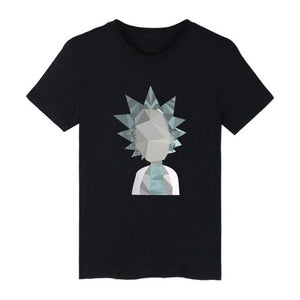 Rick And Morty Geometric 3D Funny Design T-Shirt