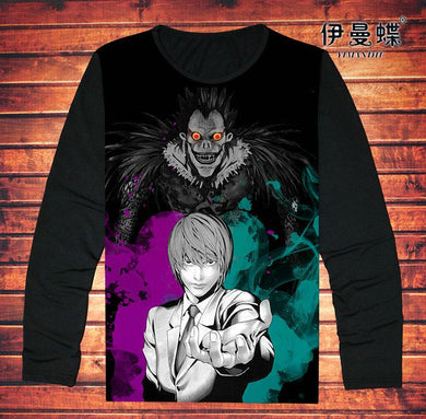 Death Note T-Shirt Long Sleeve Fashion Anime